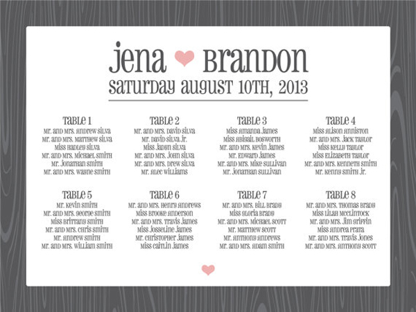 round-up seating chart posters - Something Turquoise {daily bridal