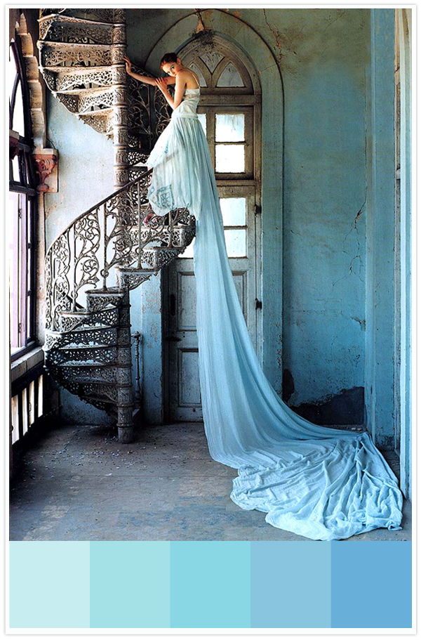 ombre turquoise dress inspiration