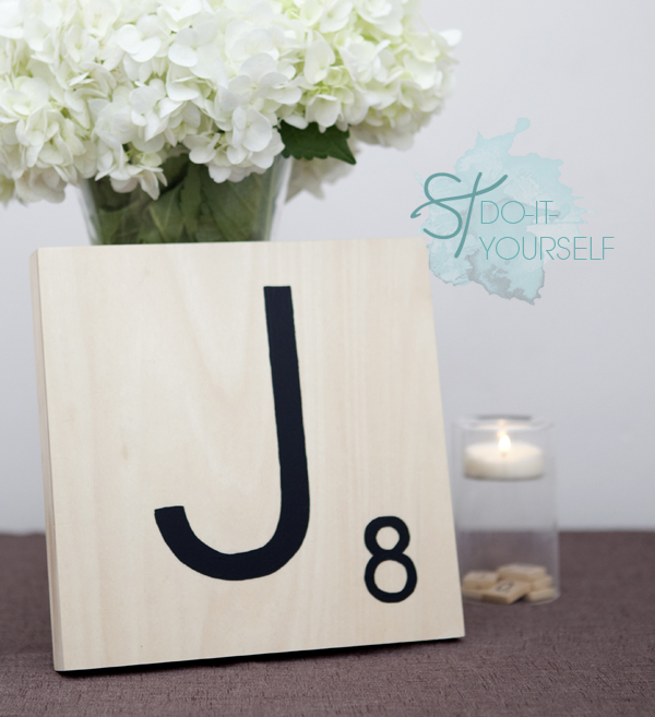 How to make Giant Scrabble Tile Table Numbers!