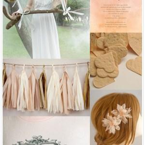 peach wedding inspiration from Etsy