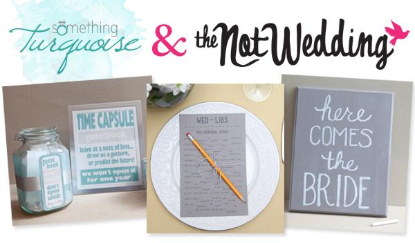 the knot wedding + something turquoise