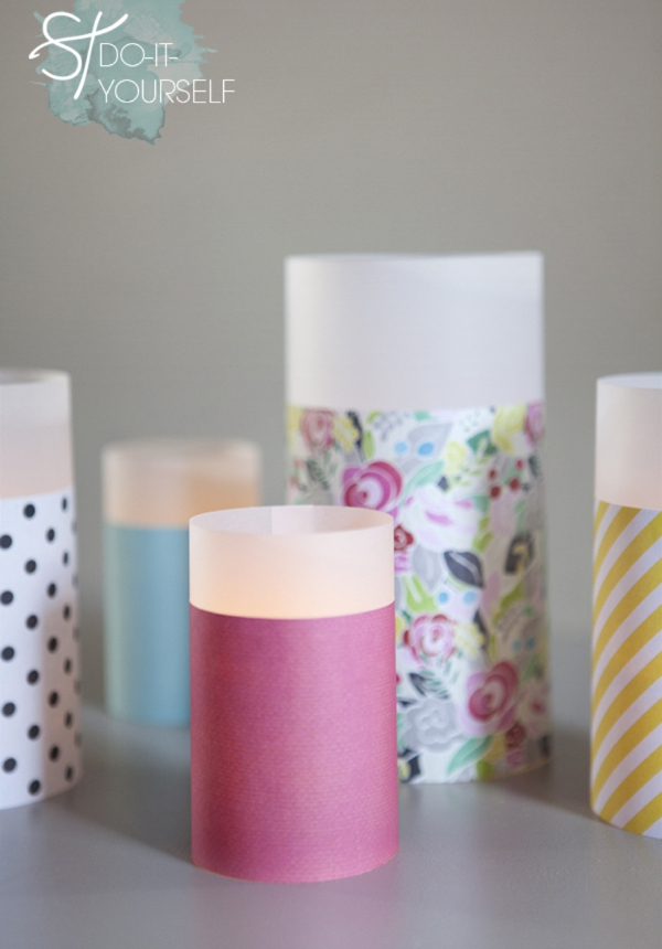 Learn how to make paper lanterns in different sizes