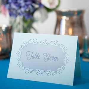 How to hand-punch your wedding table numbers!