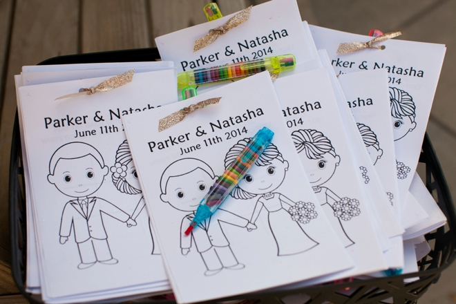 Kids wedding coloring book and favor!