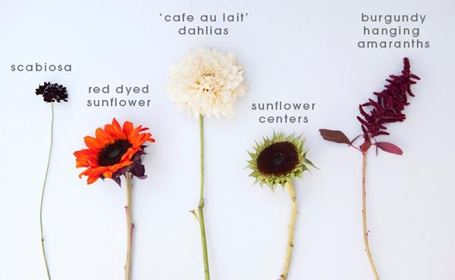 Halloween inspired sunflower wedding bouquet
