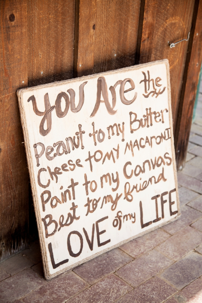 You are the peanut to my butter - sign