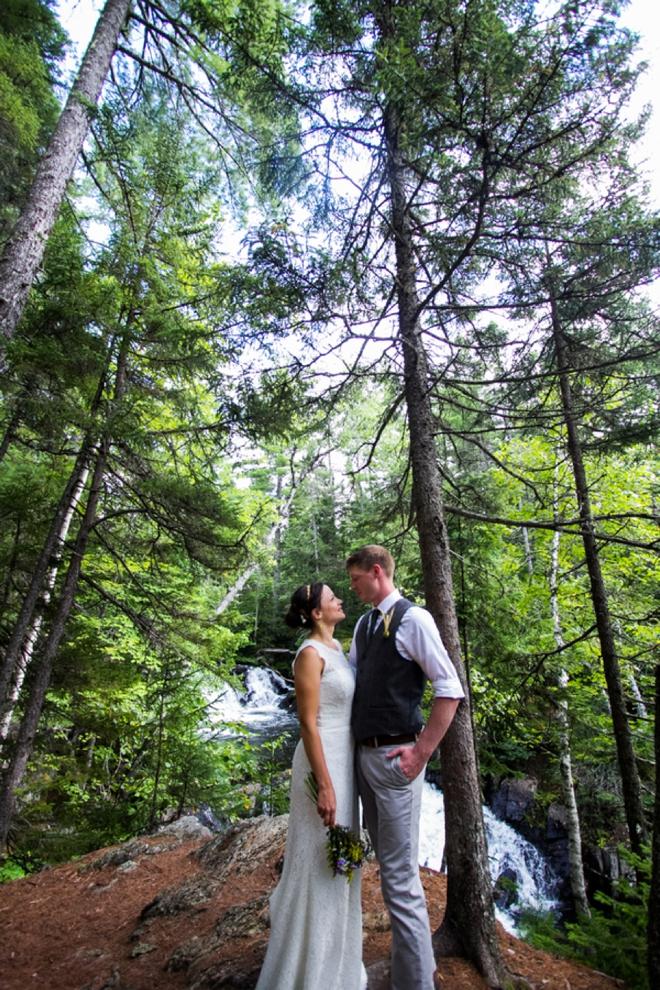 Beautiful DIY mountain wedding
