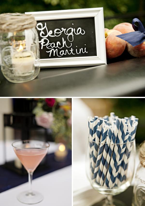 Peach martini wedding signature drink