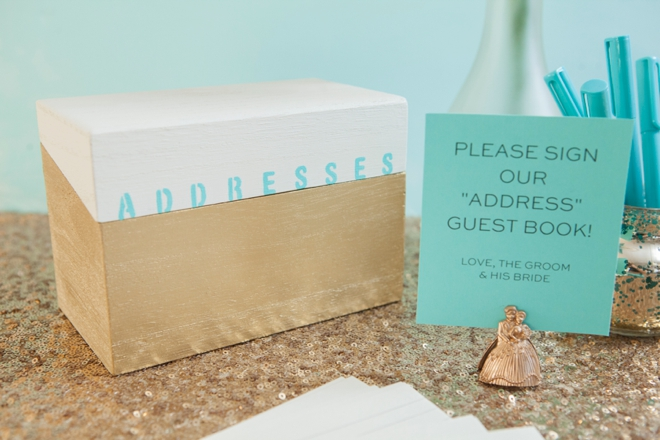Learn how to make this awesome address Guest Book!