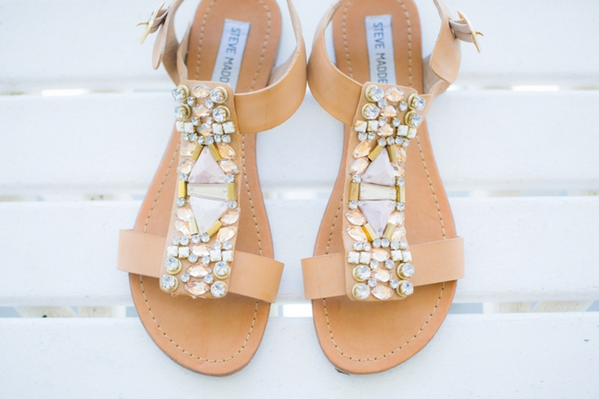 Steve Madden sandals for a beach wedding