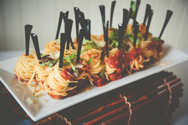 Adorable mini-spagetti on a fork