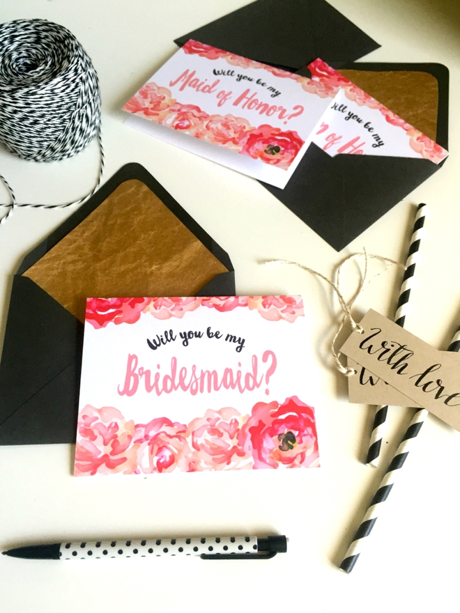 DIY Will You Be My Bridesmaid - LaneLove Design