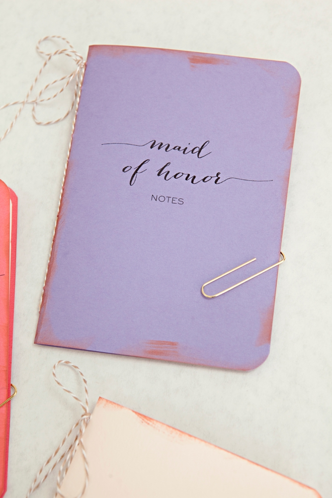 Adorable DIY wedding notebooks!