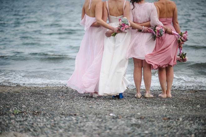The beautiful bridesmaids