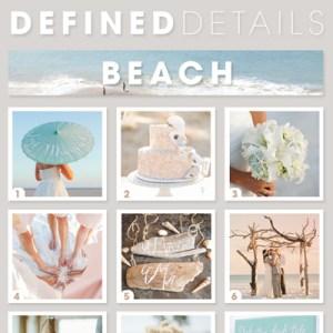 Defined Details - 9 awesome beach wedding ideas!