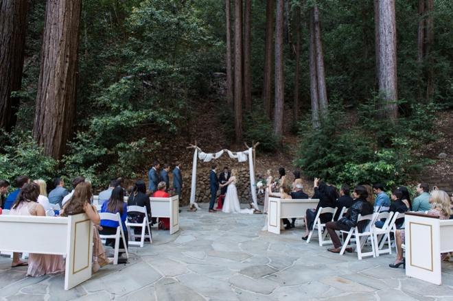 Beautiful, DIY wedding in the forest of Santa Cruz