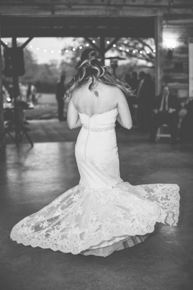 Bride twirling on the dance floor