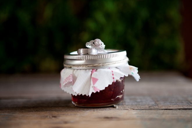 Jam Wedding Favors + Wedding Rings