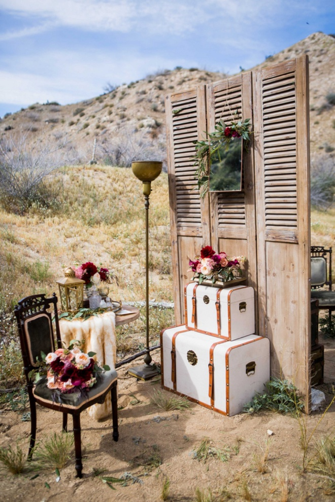 Bride's adorable area to get ready!