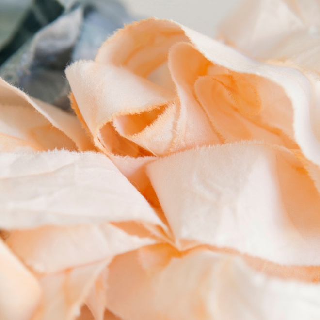 How to rip and dye your own muslin ribbon!