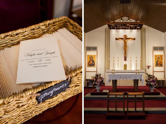 Catholic ceremony and DIY programs
