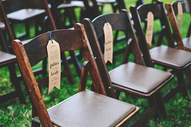 Make Your Own Wedding Ceremony Chair Quotreservedquot Signs