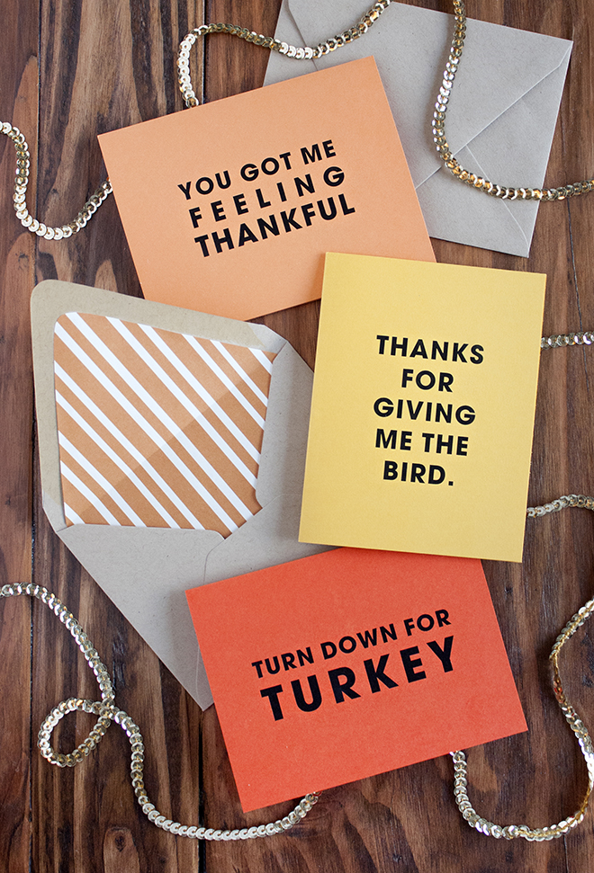 FREE printable silly Thanksgiving cards!