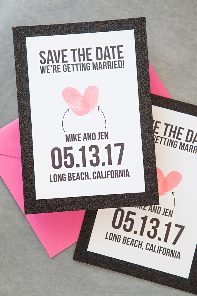 Make Your Own Thumbprint Heart Save The Dates! - free wedding save the dates
