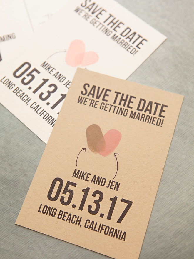 Make Your Own Thumbprint Heart Save The Dates!