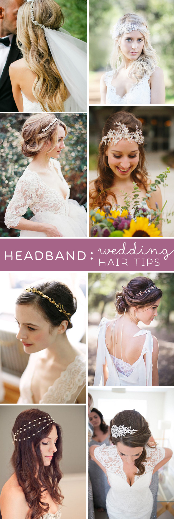 wedding hair tips headbands wedding hair pieces Awesome tips from a wedding hair professional about wearing a headband or hair piece for your