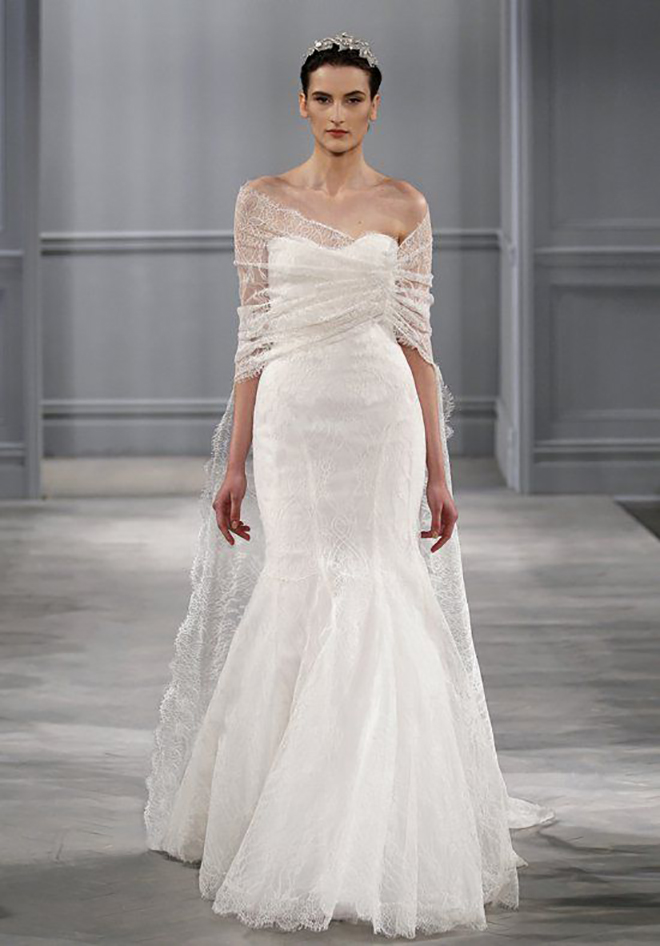 Monique Lhuillier Caplet, awesome idea for a convertible wedding dress