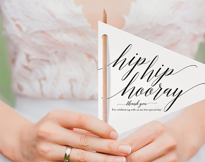 Just love these adorable flag wedding programs