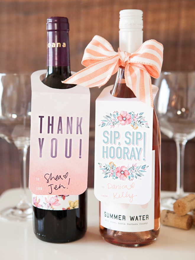 Check Out These FREE, Printable Wine Bottle Gift Tags! - wine tag template