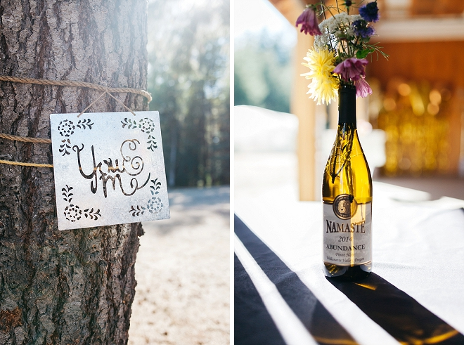 Loving all of the darling details at this couple's darling forest wedding!