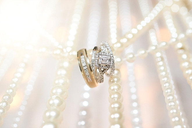 Check out this stunning ring shot and the handmade pearl backdrop!