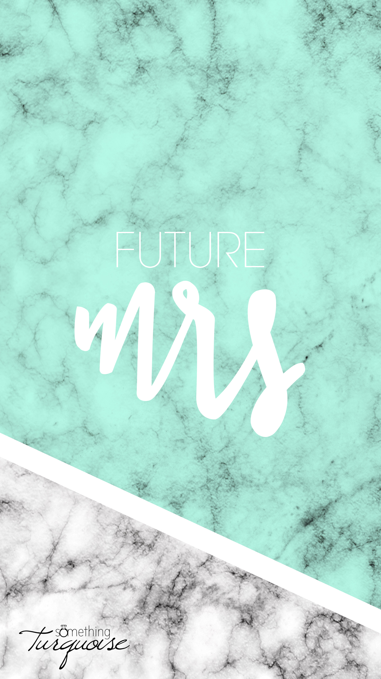 FREE mint Future Mrs iPhone wallpaper!