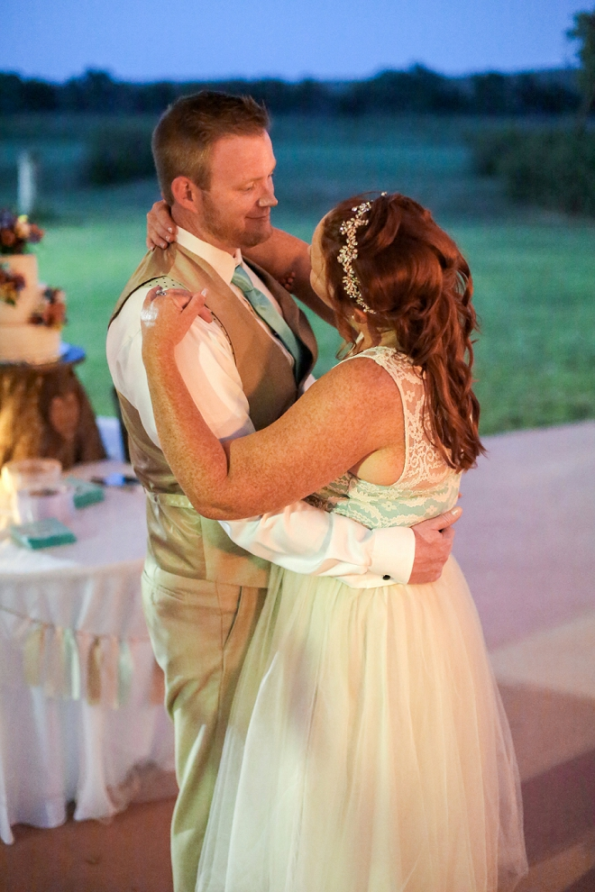 Swooning on this snap of their first dance as Mr. and Mrs!