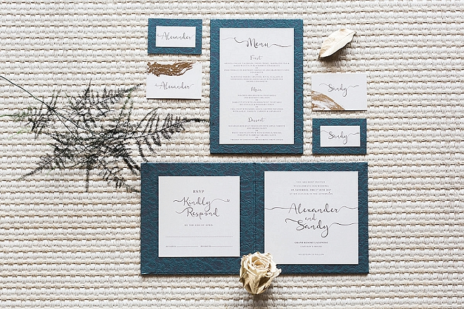 Such a stunning modern and elegant invitation suite!