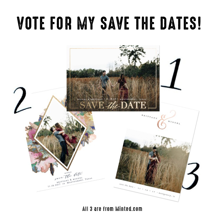 Please vote for Brittany + Miquel's save the dates!