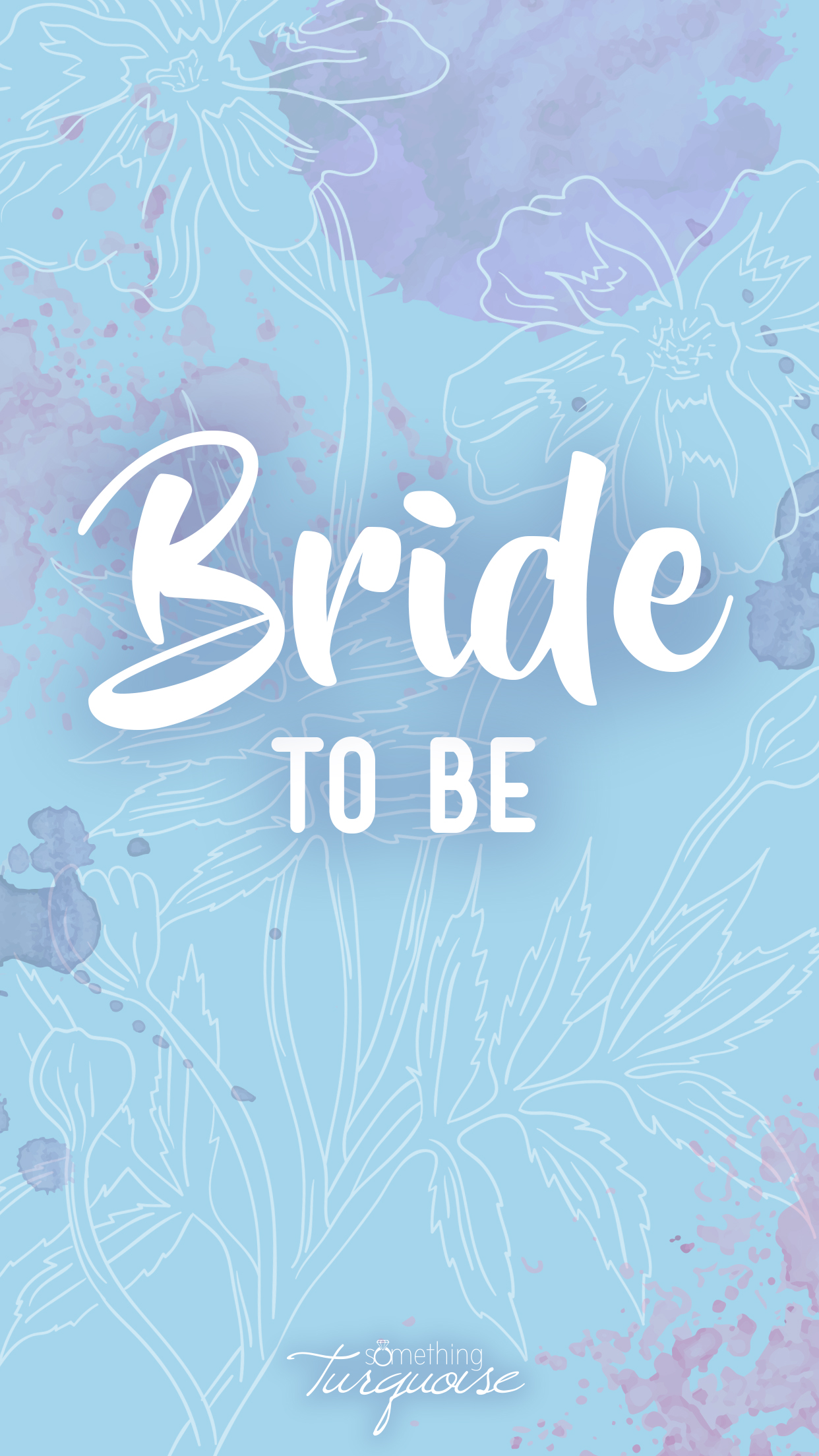 Awesome Bride To Be smartphone wallpaper and lock screen, SO cute!!