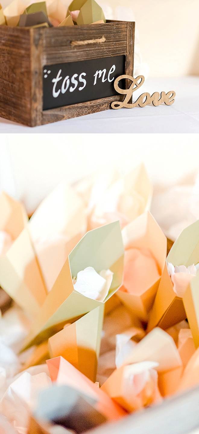 These super sweet ceremony toss petals are making a come back!
