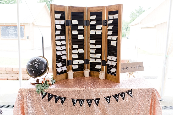 This DIY seating chart is one of our favorites!