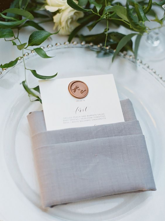 Include your logo at each place setting for a personal touch.