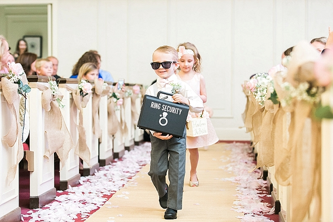 Loving this snap of the ring bearer and his cool accessories!