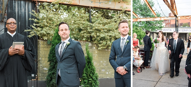Crushing on this Mr. and Mrs. at their gorgeous ceremony!