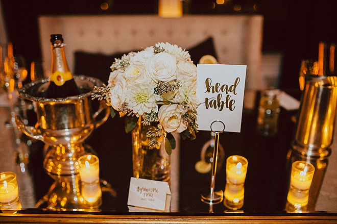 Such a glam head table - we're in LOVE!
