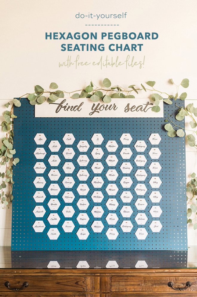 OMG, This DIY Hexagon Pegboard Seating Chart Is Amazing!