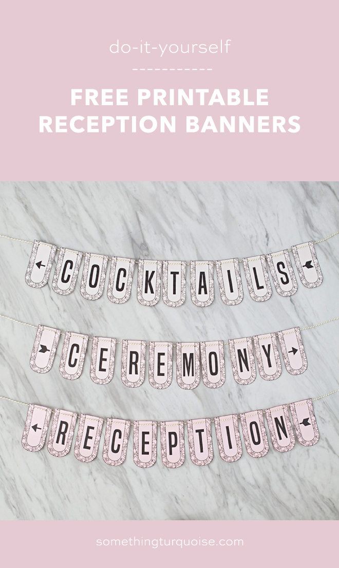 FREE Printable Wedding Directional Banners, SO Cute!