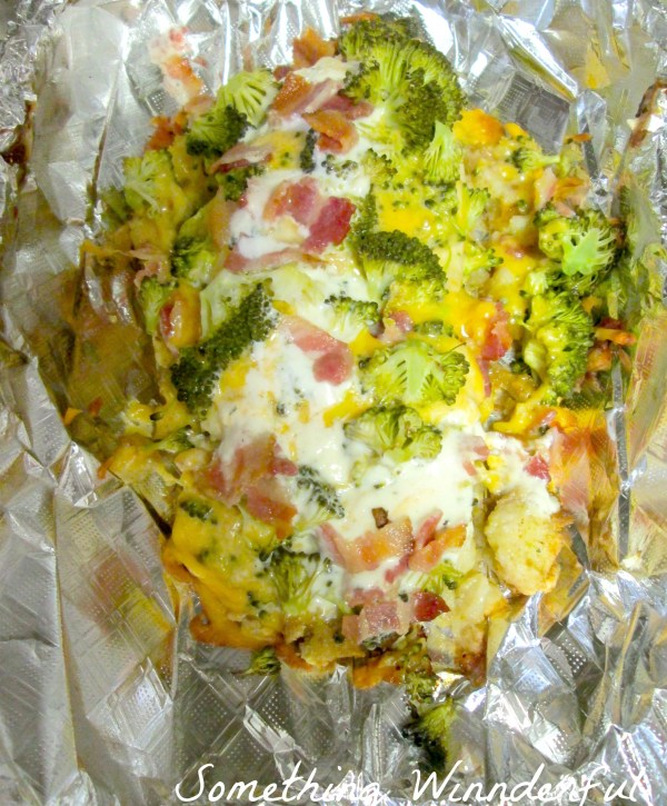 Cheese broccoli foil packet chicken plus bacon and ranch.