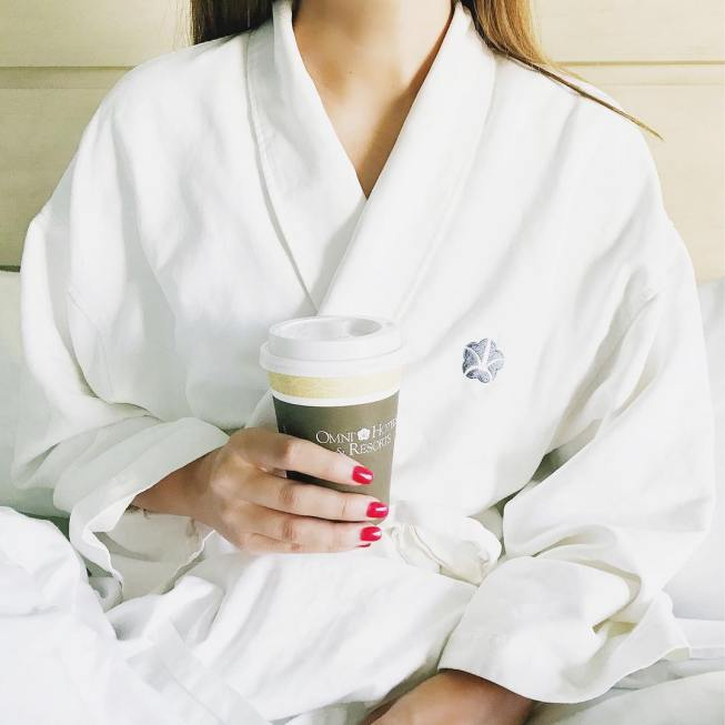 Fluffy white robes and dark roast   what myhellip